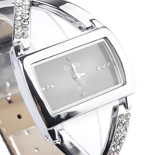 Женские Модные часы Кварцевый Имитация Алмазный Стразы PU Группа Блестящие Элегантные часы Черный от MiniInTheBox.com INT