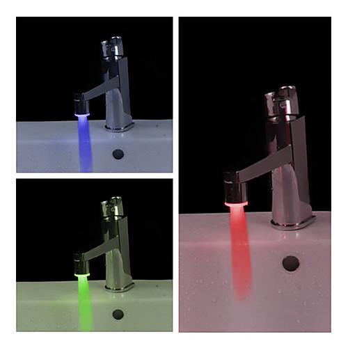 Светодиодная лампа для крана (пластик, хромированная отделка)