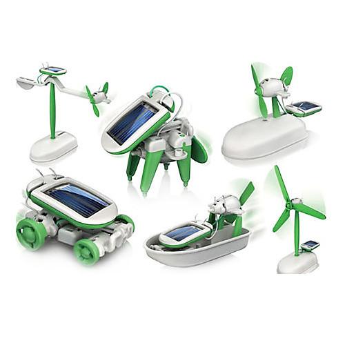6 In 1 Робот Игрушечные машинки Игрушки на солнечной батарейке Космические игрушки Игрушки для изучения и экспериментов Игрушки Солнечная