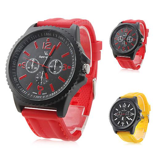 Мужские аналоговые кварцевые часы с силиконовым ремешком (разные цвета)  300.000