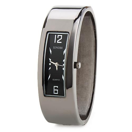 мужчин и женщин сплава аналоговые кварцевые часы браслет (черный)  429.000