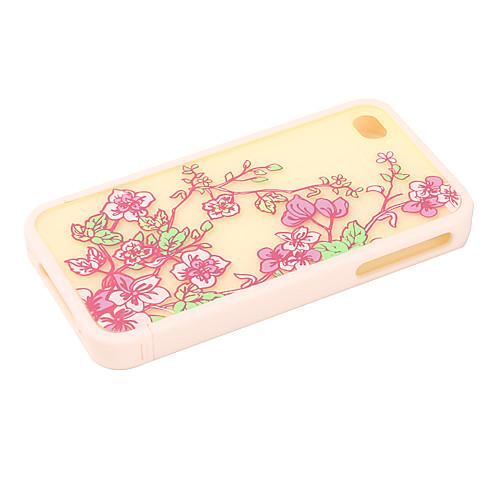 защитный бампер поликарбоната и задняя крышка для iphone 4 и 4S iphone (бежевые цветы)  214.000
