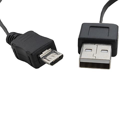 Выдвижной USB к Micro USB кабель (черный) 0,6 м  85.000