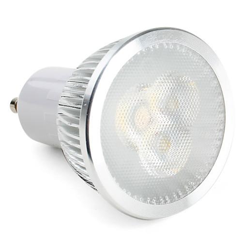 3W 270lm GU10 Точечное LED освещение MR16 3 Светодиодные бусины Высокомощный LED Диммируемая Естественный белый 85-265V 220-240V