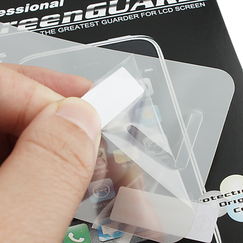 Передняя и задняя царапин зеркало экрана протектор с салфеткой для iphone 4 и 4S  85.000