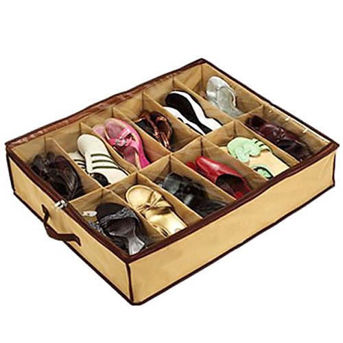 Сумка текстильная с прозрачной крышкой для хранения обуви с 12 отсеками  321.000