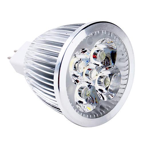 5W 400-500lm GU5.3(MR16) Точечное LED освещение MR16 5 Светодиодные бусины Высокомощный LED Тёплый белый 12V