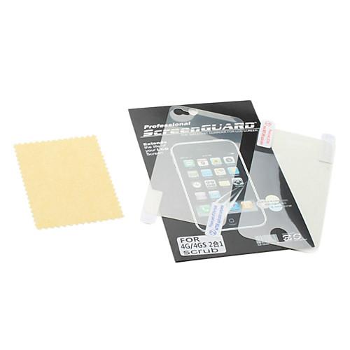 передний и задний коврик против царапин экран протектора с салфеткой для iphone 4 и 4S  85.000