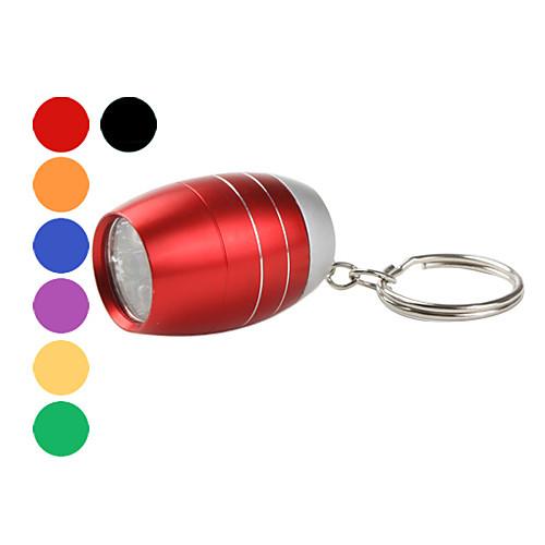 мини-6-главе нефтяной резервуар формы фонарик с брелок для ключей (разных цветов)