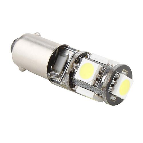 BA9s 1W 5x5050 SMD белый свет Светодиодная лампа для лампы тормоза автомобиля (12В)