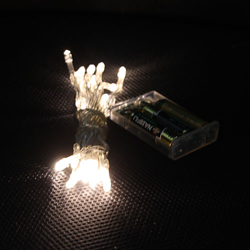 Рождественская гирлянда, два режима, теплый белый свет, 3M 30-LED (3xAA)