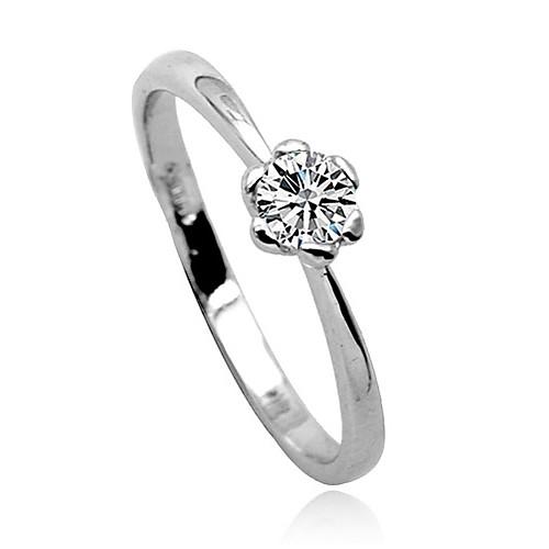 кристалла алмаза инкрустированные цветок кольцо  214.000