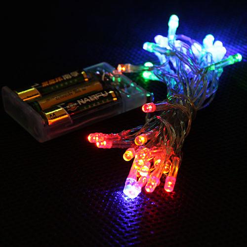 Гирлянды 30 светодиоды RGB Меняет цвета светодиоды