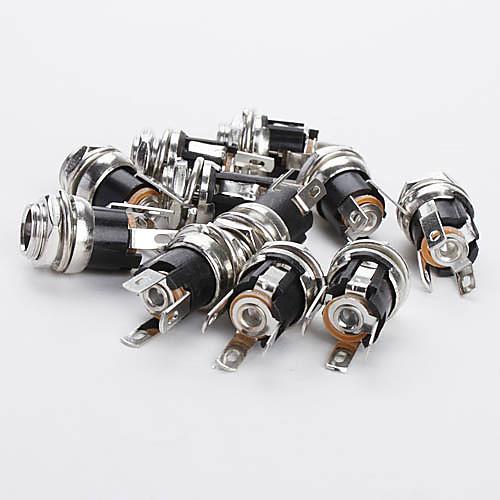 dc025 2,5 мм разъем для подключения постоянного тока для электроники DIY (10 штук упаковке)  171.000