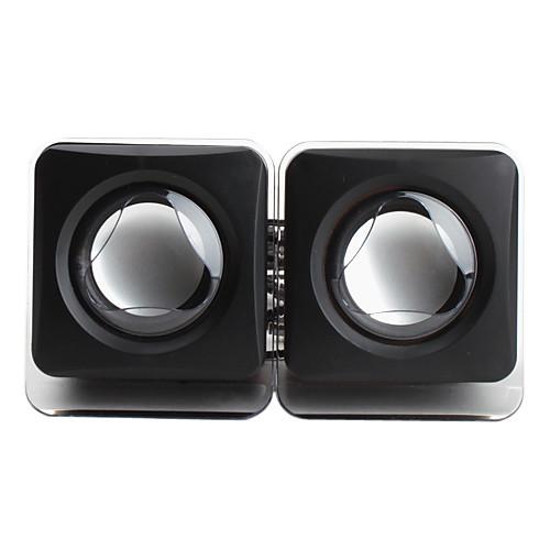портативный проводной 3,5 мм USB куб стиль черные колонки для iphone mp4 mp3 планшетный ПК сотовый телефон  513.000