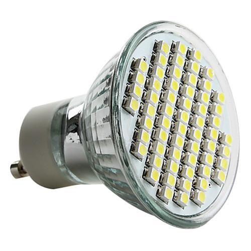 6000lm GU10 Точечное LED освещение MR16 60 Светодиодные бусины SMD 3528 Естественный белый 220-240V цена