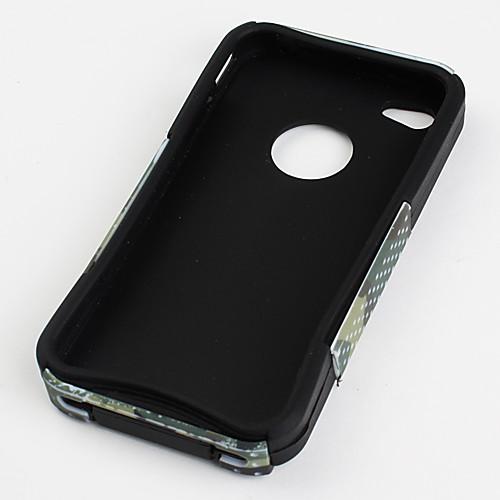 Камуфляжный свободный силиконовый чехол для iPhone 4 и 4S (зеленый)  257.000