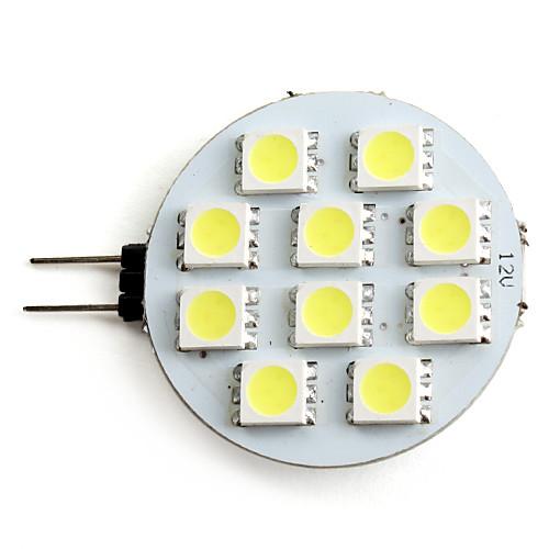 2W 160lm G4 Точечное LED освещение 10 Светодиодные бусины SMD 5050 Естественный белый 12V