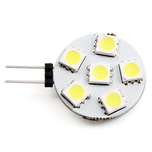 2W 2700lm G4 Точечное LED освещение 6 Светодиодные бусины SMD 5050 Естественный белый 12V