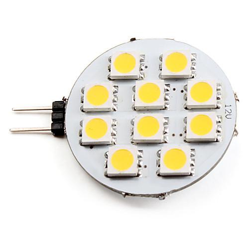 2700lm G4 Точечное LED освещение 10 Светодиодные бусины SMD 5050 Тёплый белый 12V