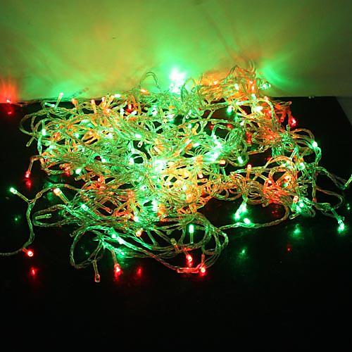 30m Гирлянды 300 светодиоды ДИП светодиоды Красный / Синий / Желтый Меняет цвета 220 V светодиоды