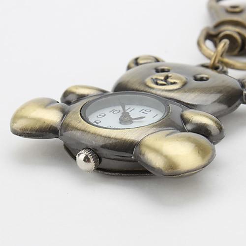Аналоговые кварцевые часы-брелок в форме милого медвежонка (