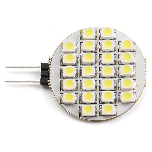 2W 6000lm G4 Точечное LED освещение 24 Светодиодные бусины SMD 3528 Естественный белый 12V