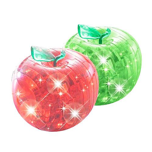 3d Хрустальное яблоко головоломки со вспышкой (случайный цвет)  515.000