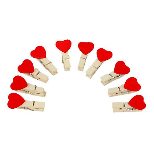 сладкого в форме сердца мини деревянная скоба с веревкой конопли (10-упаковка)  85.000