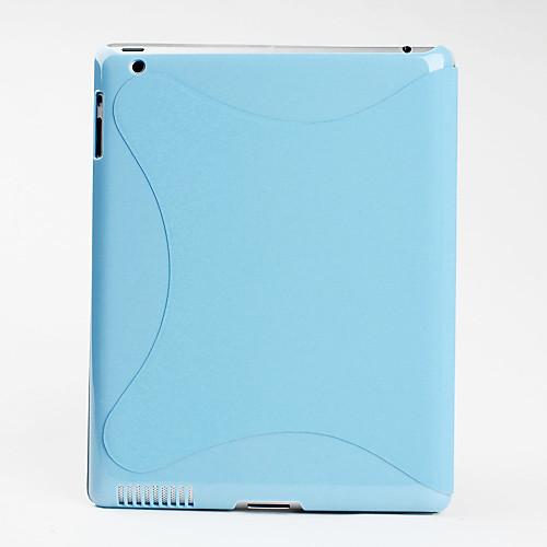 Простой чехол из кожзама с подставкой для New iPad (разные цвета)  730.000