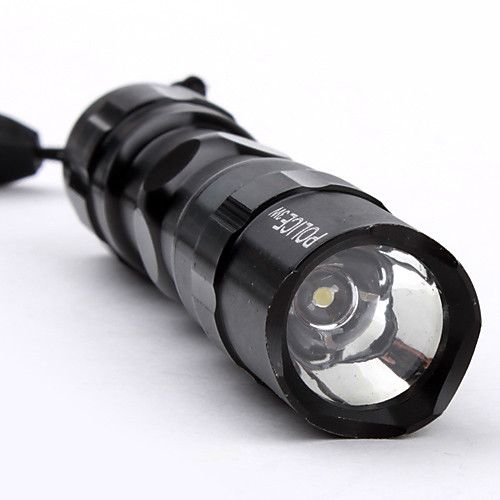 Полицейский фонарик с одним светодиодм и ремешком (1 батарея АА, 3 Вт)