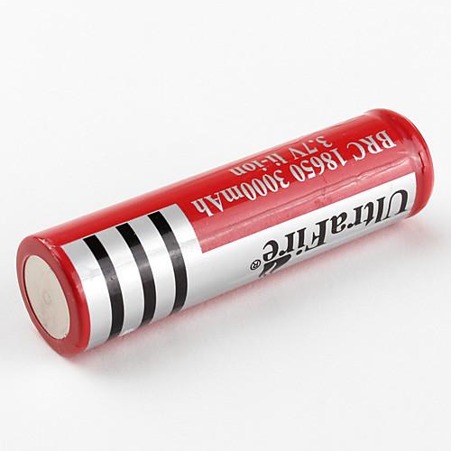 Перезаряжаемая батарея UltraFire BRC 18650 3.7V Li-ion (красная, 3000 мАч)  128.000