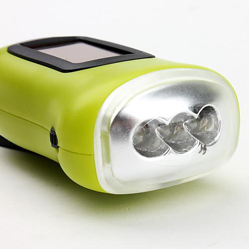 Фонарик с тремя LED и одним режимом (солнечная энергия/динамомашина, разные цвета)  300.000