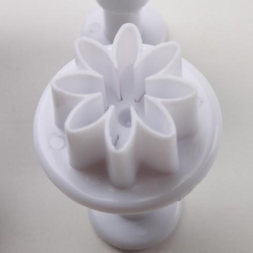 Хризантема торт узор и печенья катер формы с плунжером (4 шт)  257.000