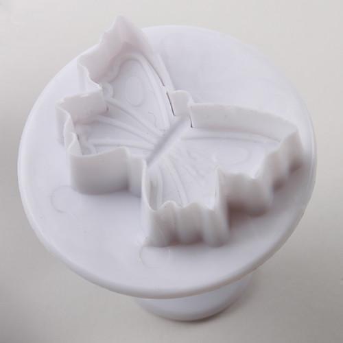 Бабочка торт узор и печенья катер формы с плунжером (3 штуки)  235.000