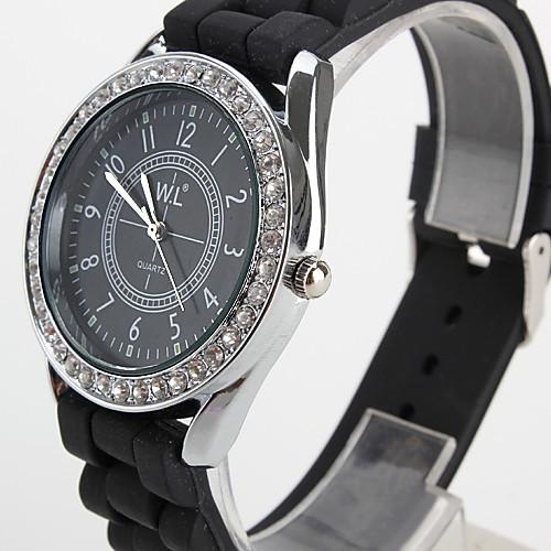 Женские аналоговые кварцевые часы с силиконовым ремешком (разные цвета)  257.000