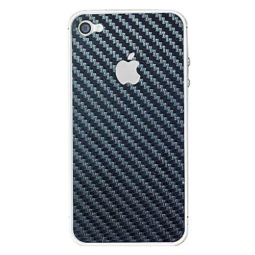 Наклейка из углеволокна на iPhone 4/4S, черная  85.000