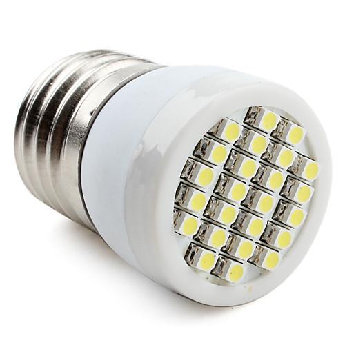 60-80lm E26 / E27 Точечное LED освещение 24 Светодиодные бусины SMD 3528 Естественный белый 220-240V