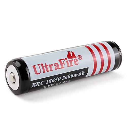 UltraFire защищены BRC 18650 3.7V литий-ионная аккумуляторная батарея (черный, 3600mAh)  171.000