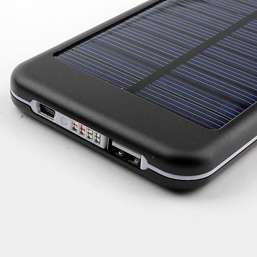 5000 мАч портативная USB внешняя солнечная батарея для iPhone, iPad, сотовых телефонов (разные цвета)  610.000
