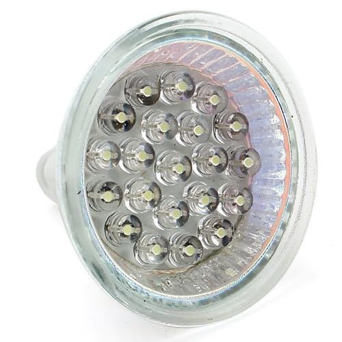 1 Вт. 60-80 lm GU10 GU5.3(MR16) Точечное LED освещение MR16 21 светодиоды Dip LED Тёплый белый Естественный белый AC 12V DC 12V AC