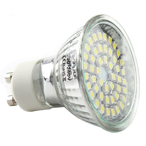 3W 250-300lm GU10 Точечное LED освещение MR16 48 Светодиодные бусины SMD 3528 Естественный белый 220-240V