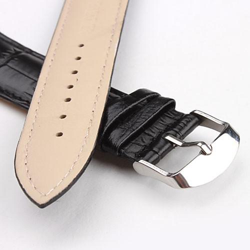 Унисекс ремешок для наручных часов 22мм из кожзама (черный)  128.000