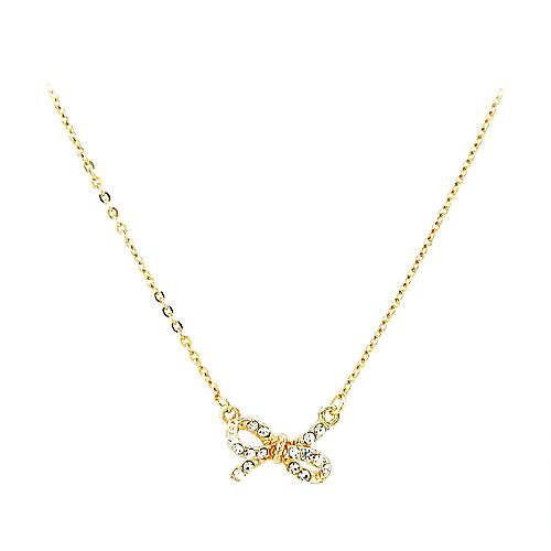 Модное ожерелье с подвеской-бантиком и кристаллами  76.000
