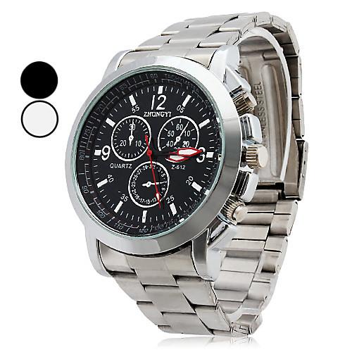 Мужской Наручные часы Кварцевый сплав Группа Серебристый металл <br>