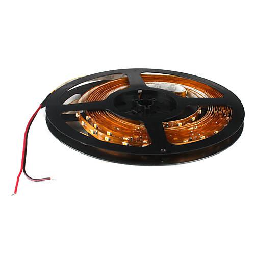 Гибкая светодиодная лента, теплый белый свет, 5M., 5W 300x3528 SMD (DC 12V) <br>