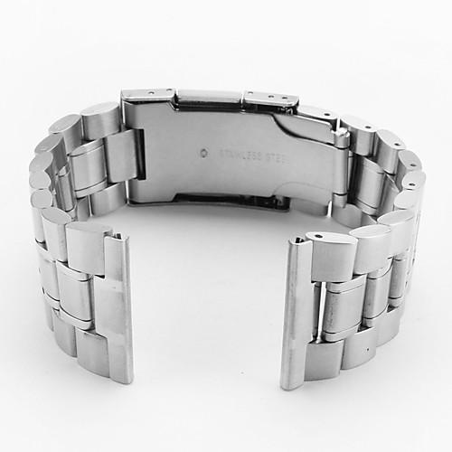 унисекс Часы из нержавеющей стали группой 22мм (серебро)  515.000