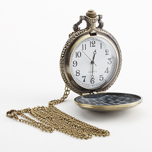 Аналоговые кварцевые карманные часы унисекс (