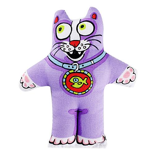 Маленькая кошка Bell Стиль Catnip Игрушка для кошки (фиолетовый)  64.000