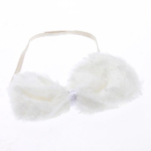 плюшевые 3-в-1 прекрасный белый кролик оголовье  галстук-бабочка  хвост костюм для Хэллоуина набор маскарад партии  154.000
